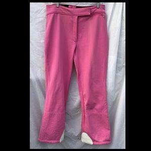 "1970's Bubblegum Pink Ski Pants, 34"" waist"